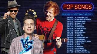 Bruno Mars, Ed Sheeran, Charlie Puth Greatest Hits Cover 2018 - New Pop Music Mix 2019