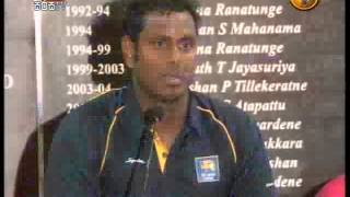 Sri Lankan Cricket Team After ICC 2015 World Cup 1St Media Presentation