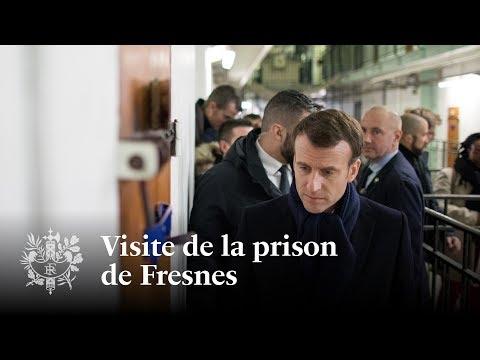 Visite de la prison de Fresnes | Emmanuel Macron