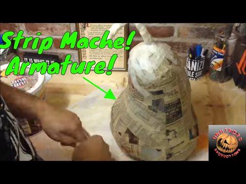 How to make a paper mache pumpkin 2nd Generation pumpkin Part 1