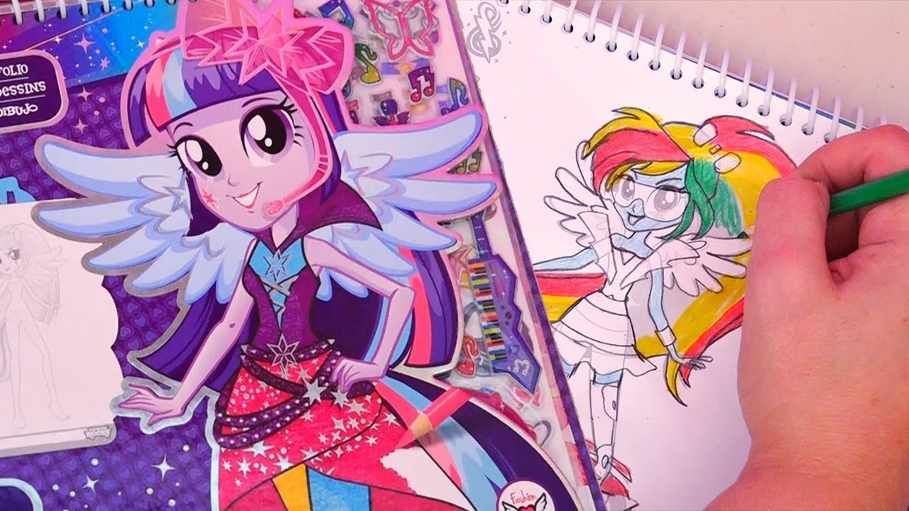 Best My Little Pony Toys And Dolls For Kids : My little pony equestria girls fashion design sketchbook