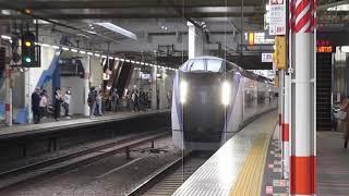 中央線E353系特急かいじ・富士回遊36号新宿行西国分寺駅高速通過