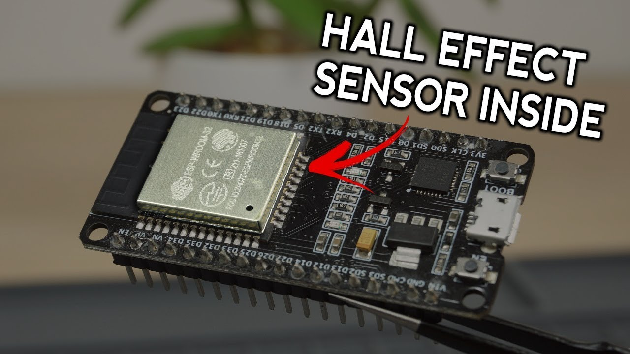 ESP32 Built-In Hall Effect Sensor: Arduino IDE and