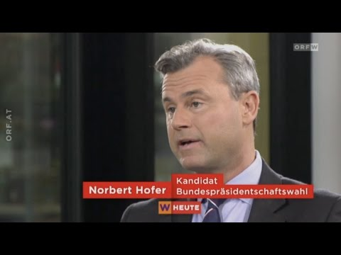 "Norbert Hofer - ""Wien Heute""-Interview - 25.11.2016"