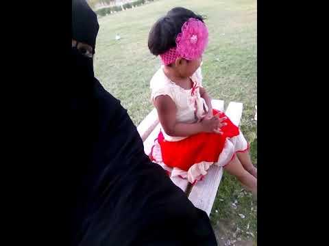 Nabila Qatar in garden