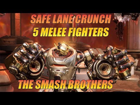 Paragon - Safe Lane Crunch | Five Melee Fighters Bruiser Team Comp