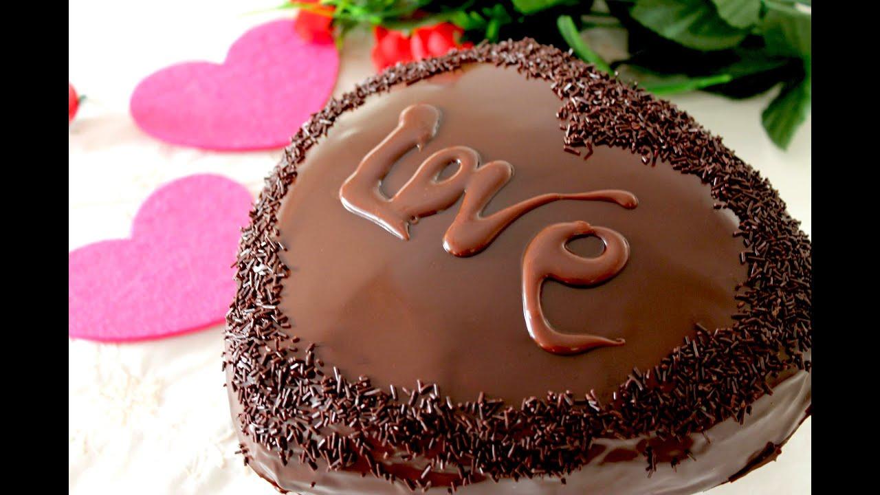 Tarta Corazón De Chocolate Y Trufa Sin Lactosa De San Valentín Chocolate Lover Cake Youtube