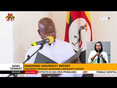 President Museveni receives a 355-page report from the Visitation Committee of Makerere University