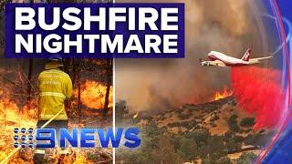 Homes lost as 13 emergency bushfires burn in NSW | Nine News Australia