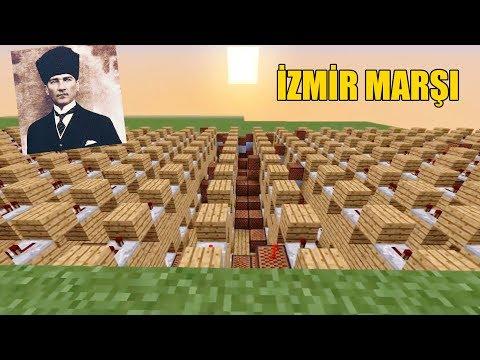 İZMİR MARŞINI MİNECRAFT NOTA BLOKLARIYLA YAPMAK! #Minecraft