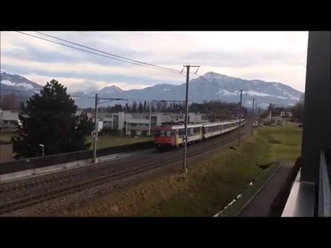 Zurich to Zug by train