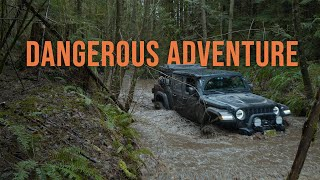 DANGEROUS Off-Road Adventure After Storm  Jeep Gladiator amp Toyota 4Runner