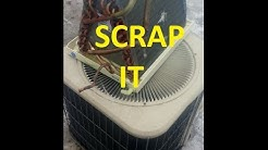 Scrapping a Central Air Conditioner and AC Coil for Cash