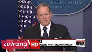Washington will continue to pressure North Korea: White House