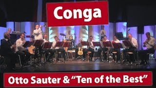 """""""conga"""" by enrique garciaperformed otto sauter & """"ten of the best"""" in bischofshofen, austria on august 9, 2018.trumpets (left to right):otto (de); ..."""