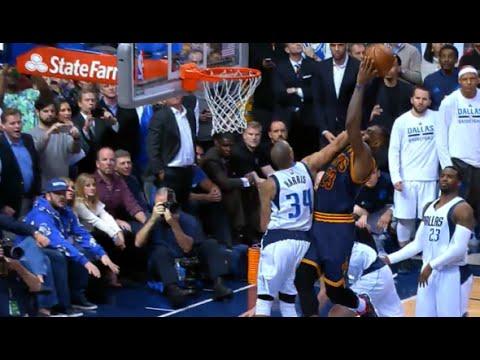 LeBron James' sick clutch poster slam over Devin Harris!