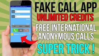 Fake Call App Unlimited Credits Trick   Best Free Call App for Android   Phone ID Faker Free Credits screenshot 1