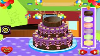 Игра Готовим тортик. Как приготовить и украсить торт. Game Cooking cake. How to cook a cake