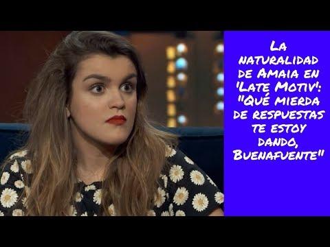 """La naturalidad de Amaia en 'Late Motiv': """"Qué mierda de respuestas te estoy dando, Buenafuente"""""""