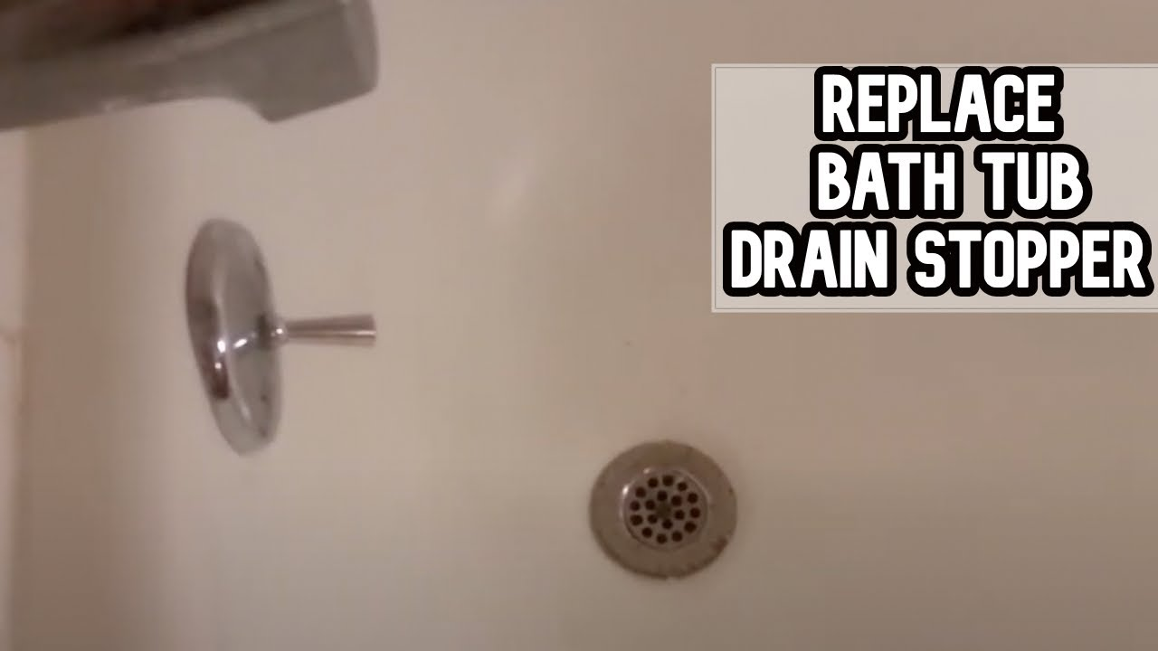 How To Fix Bath Tub Drain Stopper DIY Video