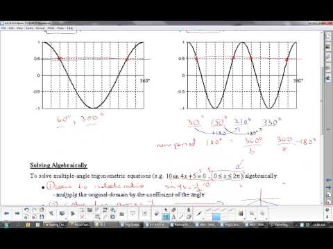 U5L3 Trigonometric Identities: Single Angle and Multiple Angle Equations: Calculus