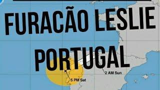 Furacão Leslie atinge Portugal e ruma para Espanha