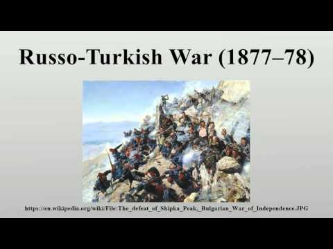 Russo-Turkish War (1877–78)