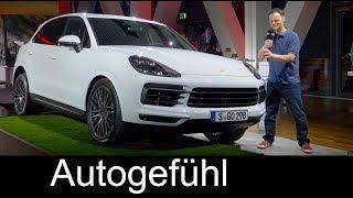 All new Porsche Cayenne 2018 Reveal REVIEW Exterior Interior Porsche Musuem Feature Autogefhl