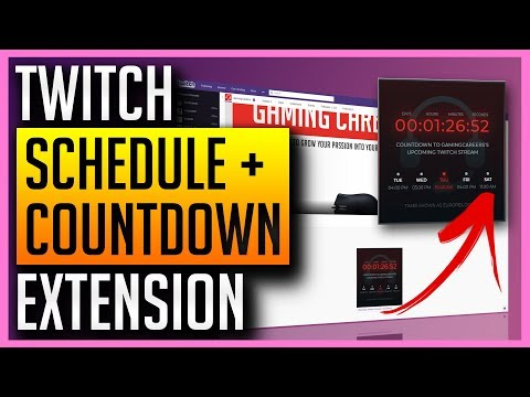 ✅ LIVE Countdown + Stream Schedule in Your Twitch Panels!