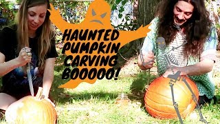 Weirdos carving pumpkins spooky editing haha
