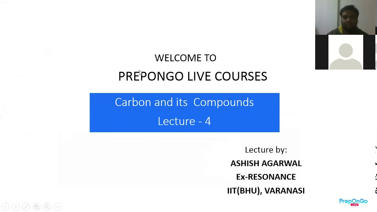 Lecture 4 - Carbon and its compounds