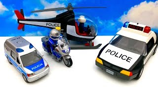 Police Toys for Kids ☺ Car, Helicopter, motorcycle ☺ Playmobil