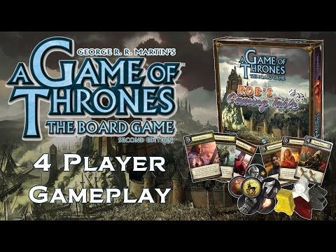 Game of Thrones: The Board Game - 4 Player Gameplay