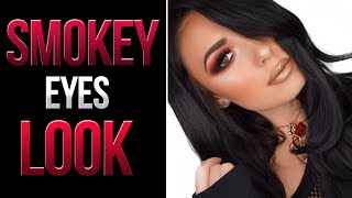 Smokey Eyes & Glitter Lips Makeup Tutorial | Victoria Lyn Beauty