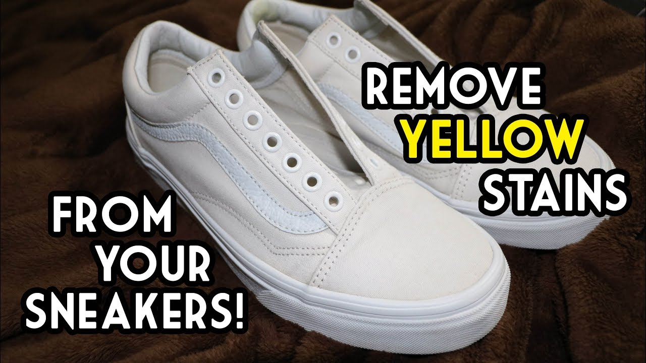 How to Remove Yellow Bleach Stains from Shoes » How To Clean