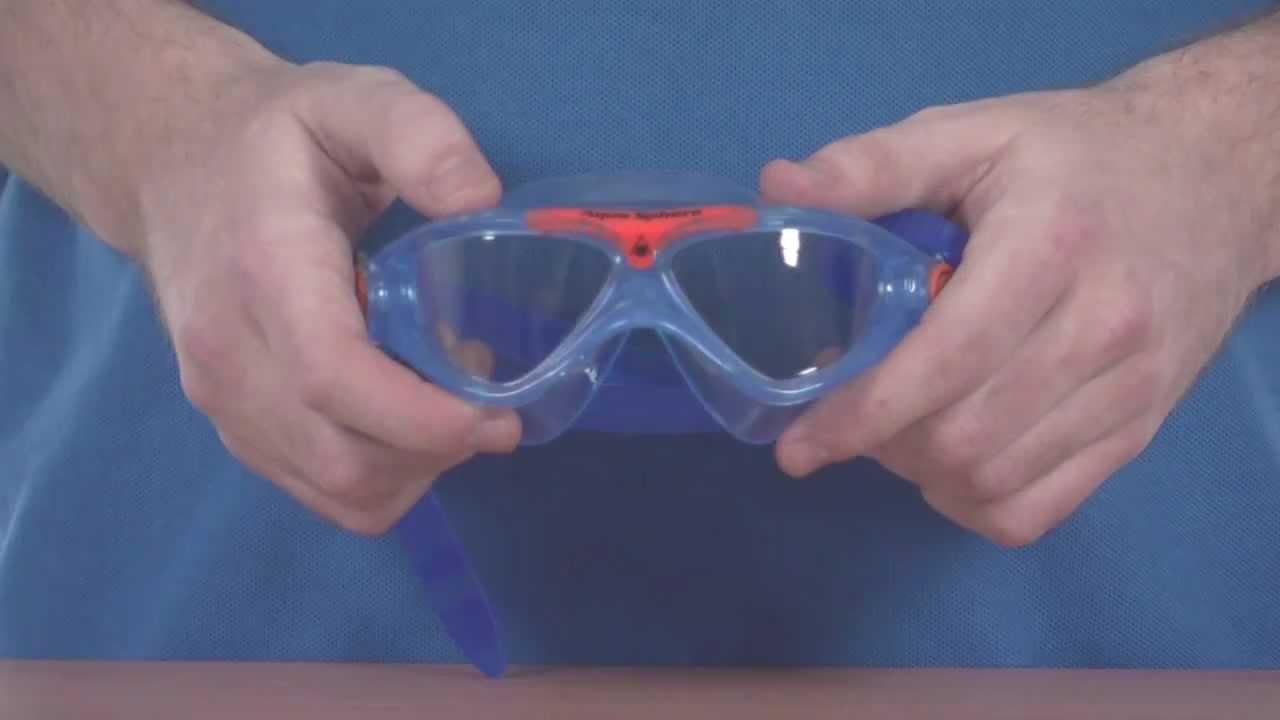 deb4eaf5d1b Aqua Sphere Vista Junior Goggle - Blue and Orange - www.simplyswim.com -  YouTube