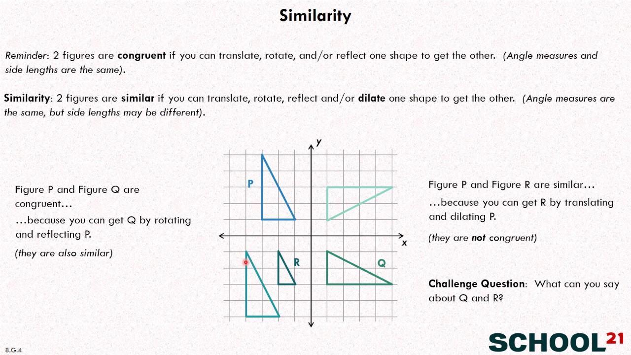 medium resolution of Similarity \u0026 Transformations (examples
