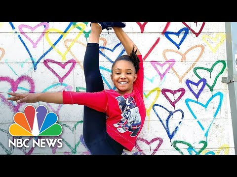 9-Year-Old Goes Viral For Her Skating Routine On The D.C. BLM Mural   Nightly News: Kids Edition
