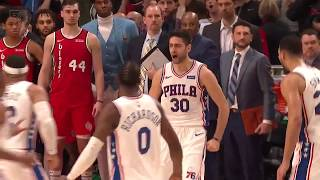 Sixers vs. Blazers Final Minute of Game (Wild Finish)