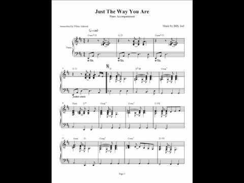 Just The Way You Are Billy Joel Piano Accompaniment Youtube