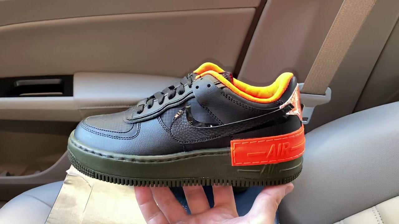 Nike Air Force 1 Shadow Black Orange CQ3317 001 Release Date