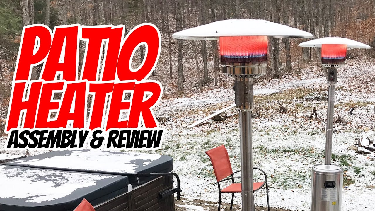 hampton bay 48 000 btu stainless steel patio heater assembly review