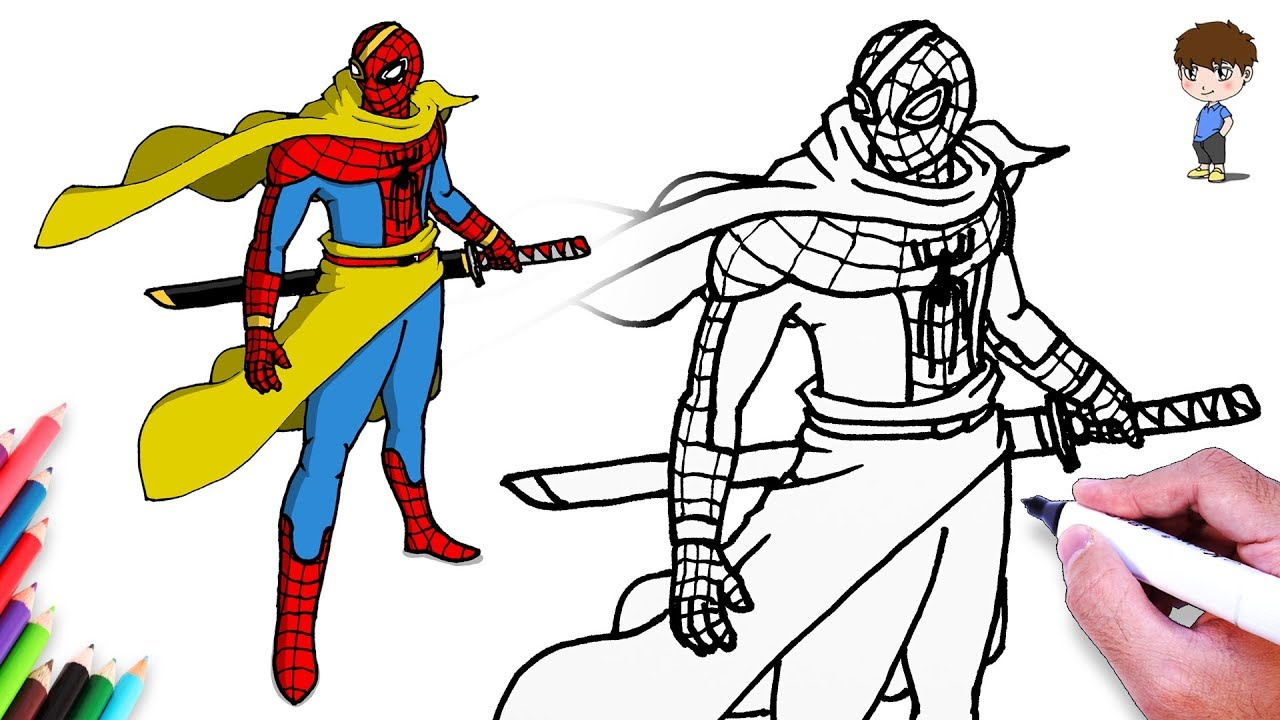 Comment dessiner spiderman ninja facilement dessin de spiderman ninja facile a faire youtube - Dessiner spiderman facile ...