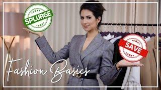SAVE vs SPLURGE FASHION BASICS   Coats, Jeans, Tops Blazers, Dresses   JASMINA PURI