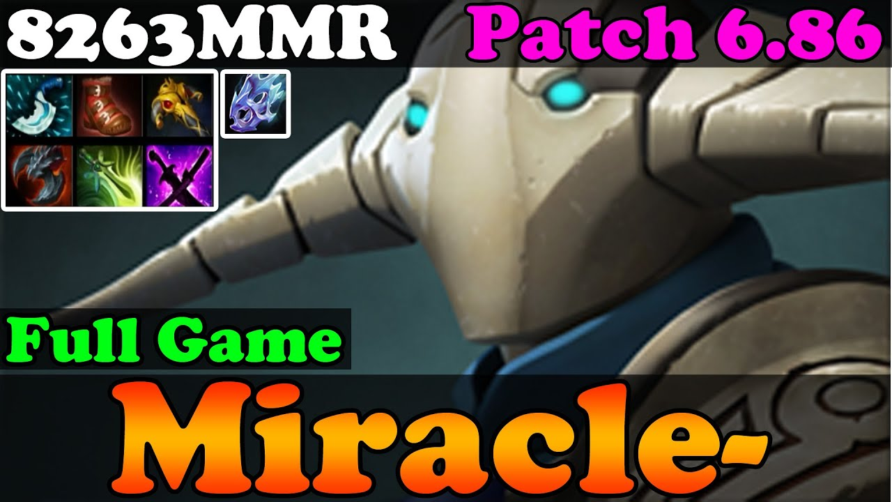 dota 2 patch 6 86 miracle 8263mmr top 1 mmr plays sven full