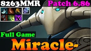 Dota 2 - Patch 6.86 : Miracle- 8263MMR Top 1 MMR Plays Sven - Full Game - Ranked Match Gameplay
