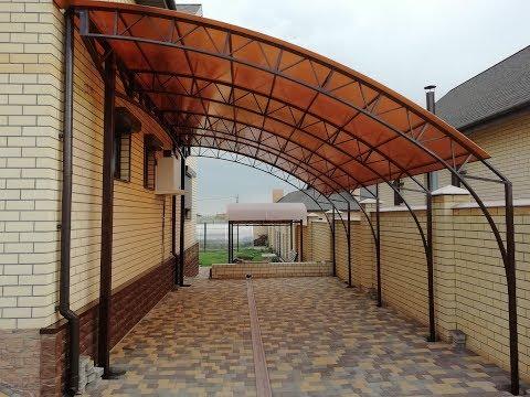 Стены из поликарбоната фото к частному дому своими руками