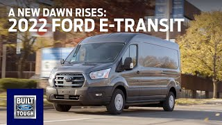 homepage tile video photo for The 2022 Ford E-Transit: A New Dawn Rises | E-Transit | Ford