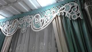 Как смотрятся шторы на ленте с ламбрекеном