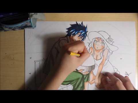 Speed drawing - Fairy Tail - Gray & Juvia